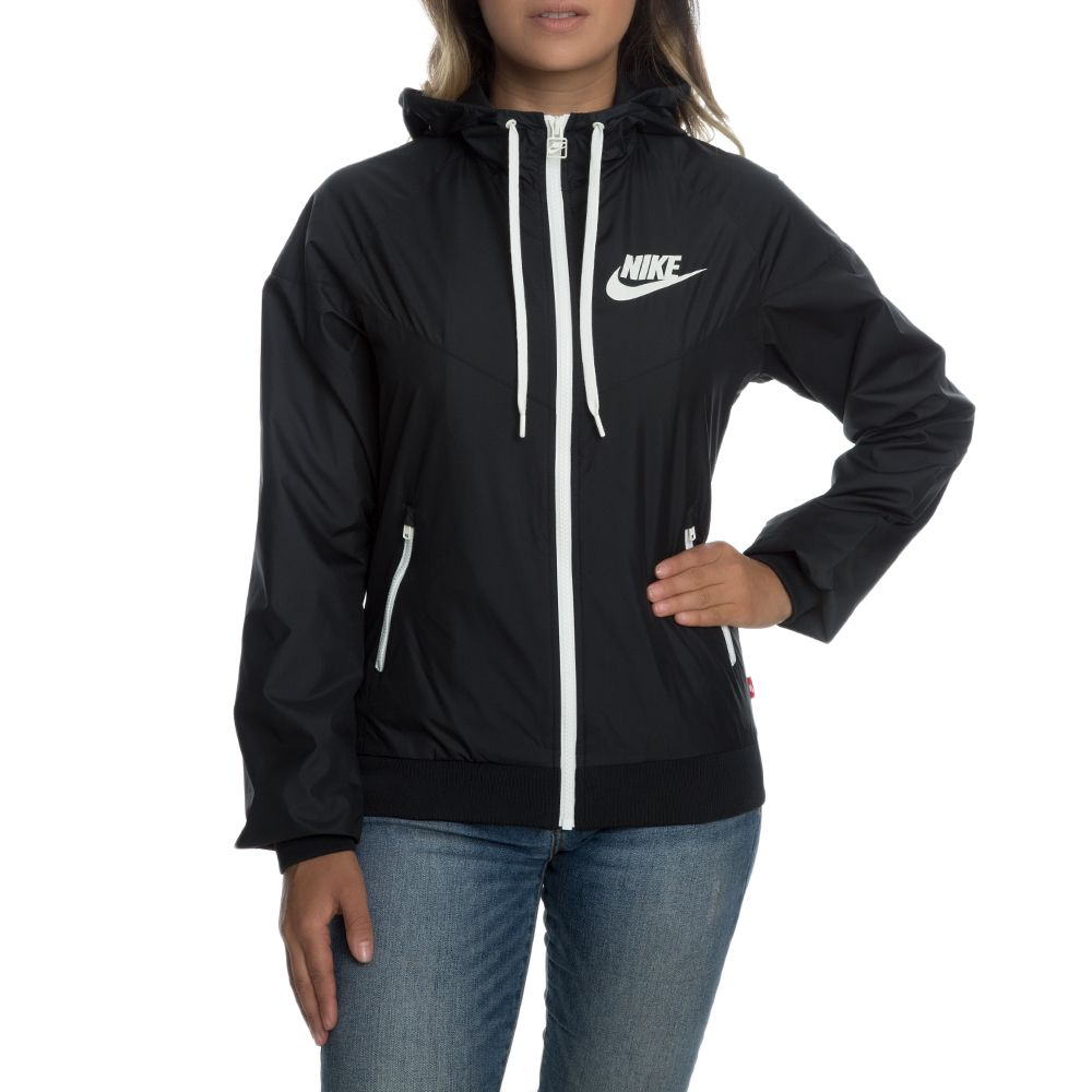2e0f12a8ed WOMEN S NIKE WINDRUNNER JACKET BLACK SAIL