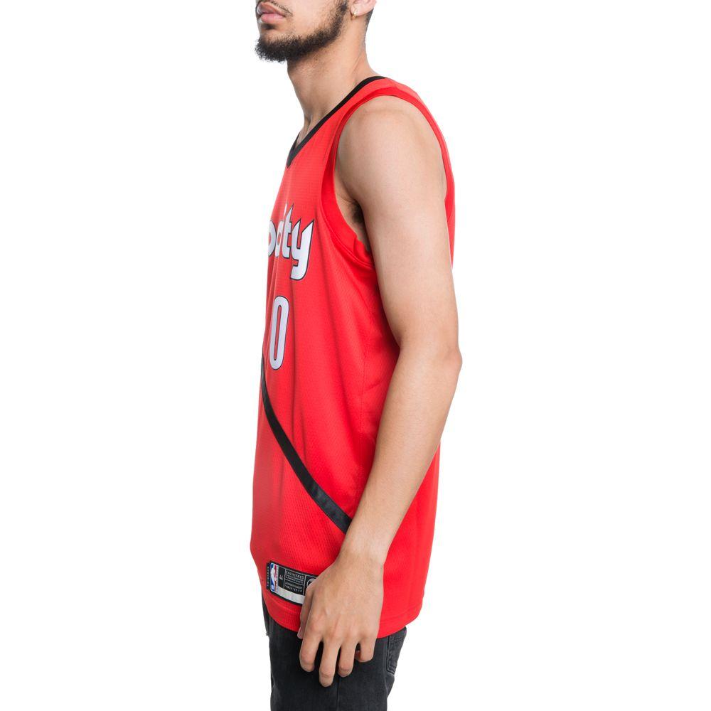 8b63145f5 ... PORTLAND TRAIL BLAZERS NBA CONNECTED DAMIAN LILLARD EARNED CITY EDITION  SWINGMAN JERSEY UNIVERSITY RED BLACK ...