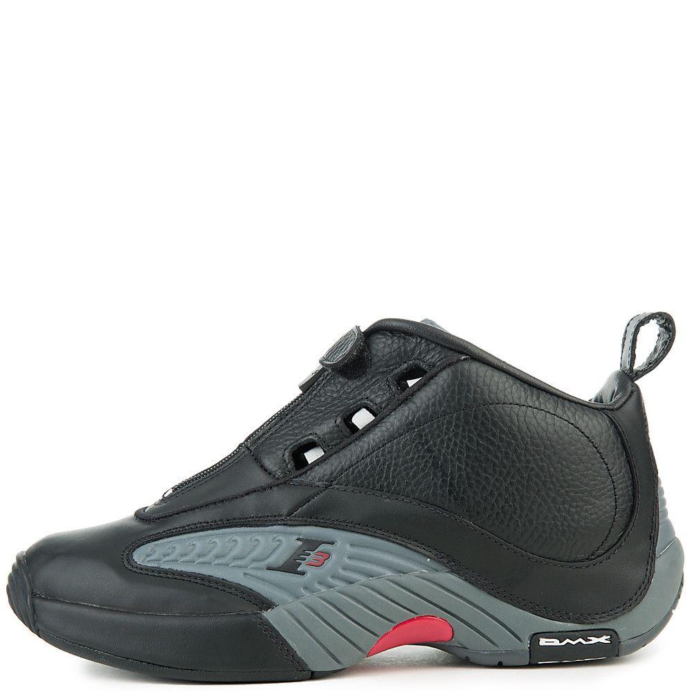Men s Answer IV Sneaker BLACK RIVET GREY RED b21ef7438