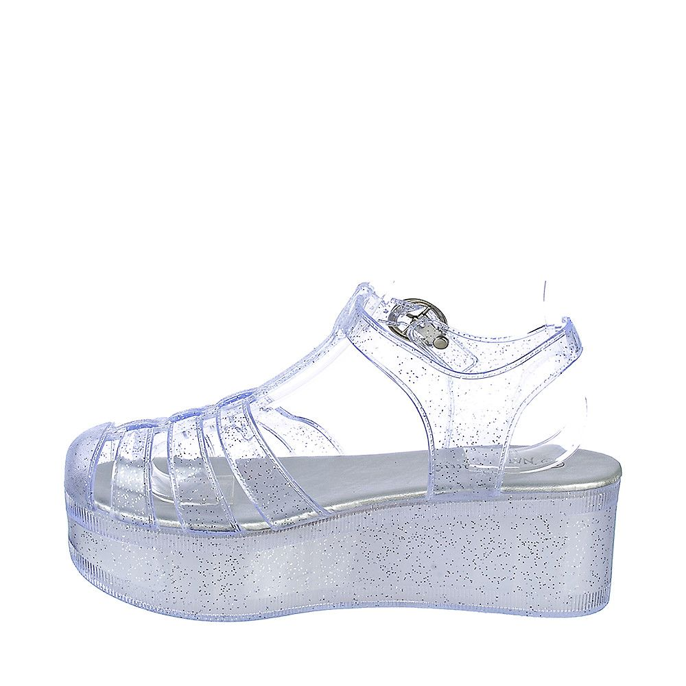 599a6f9904 Women's Disco-01 Platform Jelly Sandal Clear