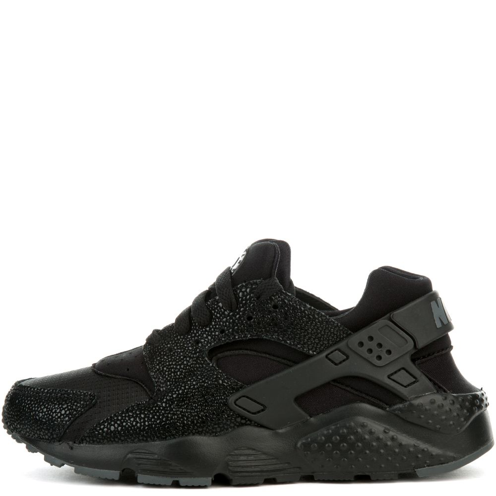 NIKE HUARACHE RUN SE (GS) BLACK BLACK-DARK GREY 2d008af7b07f