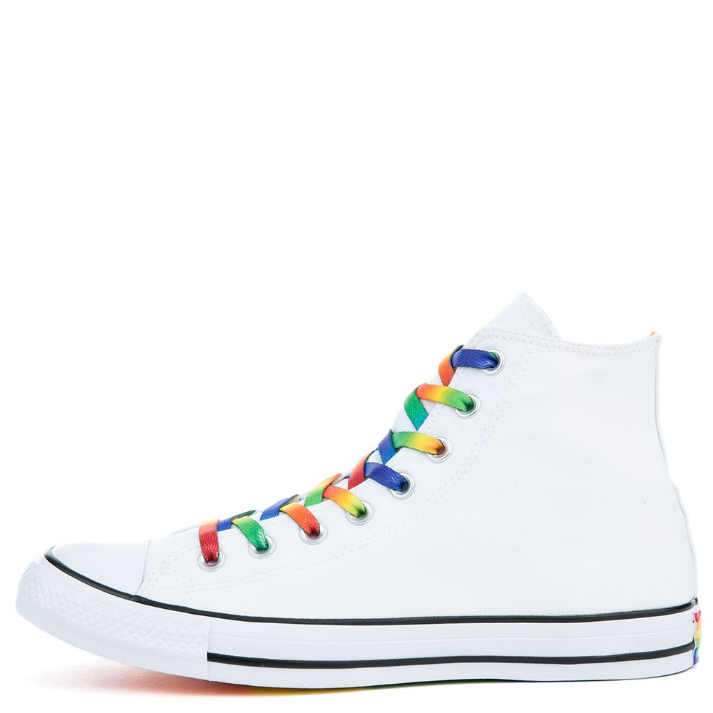 565b66541637 Unisex Chuck Taylor All Star High Pride White Sneakers White Multi Blk
