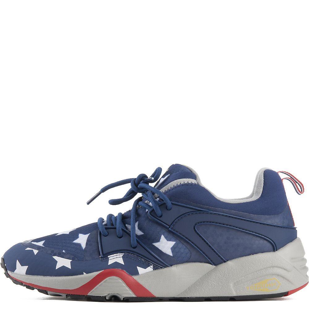 Men s Blaze of Glory BAU Casual Sneaker Red White Blue 11e818b410