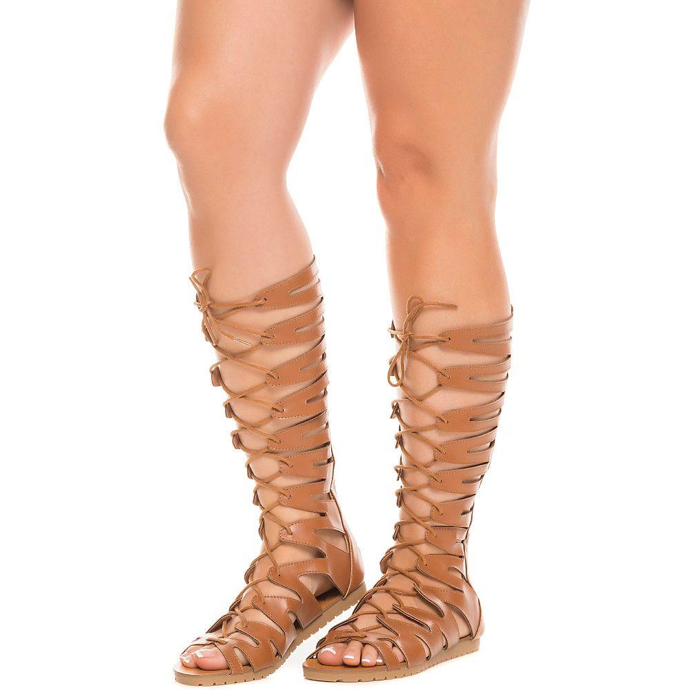 Up Sandal Cognac Women's 23 Lace Gladiator Sam DHe9bW2IEY