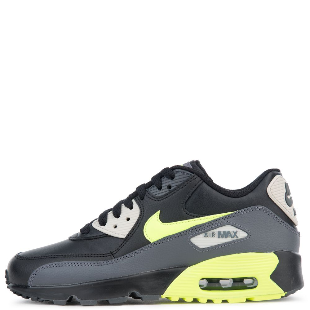 premium selection 538b6 b9135 AIR MAX 90 LEATHER (GS) DARK GREY VOLT-BLACK-LIGHT BONE ...