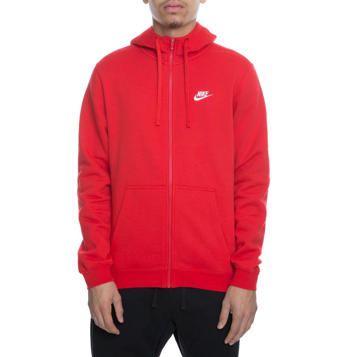 2648380d5 Club Fleece Full Zip UNIVERSITY RED/WHITE