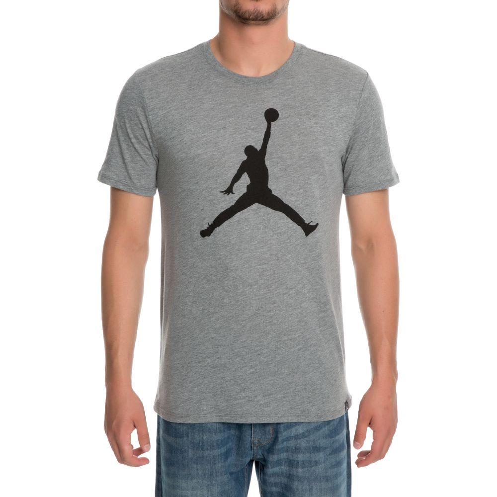 jordan iconic jumpman logo t-shirt carbon heather black 720335e93c9