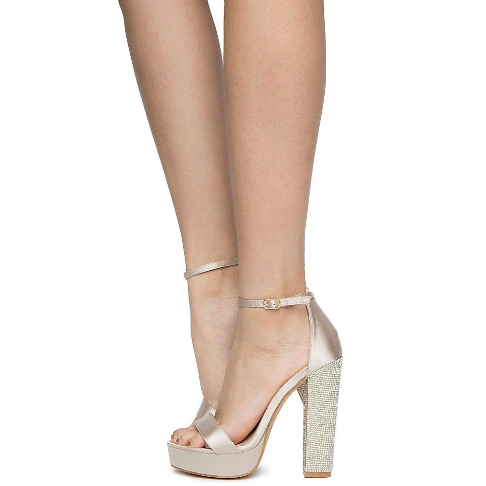 Women's Nude Regina 3 Heels High 4Lj5AR