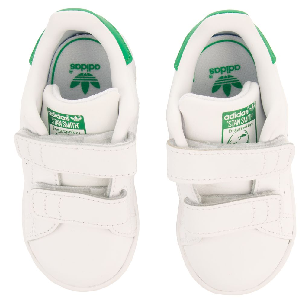 brand new 5b55d 50126 Toddler's Stan Smith Velcro Sneaker White/Green