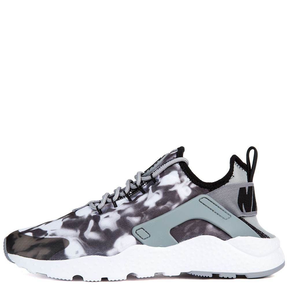 29762e6640ea W AIR HUARACHE RUN ULTRA PRINT STEALTH BLACK WHITE