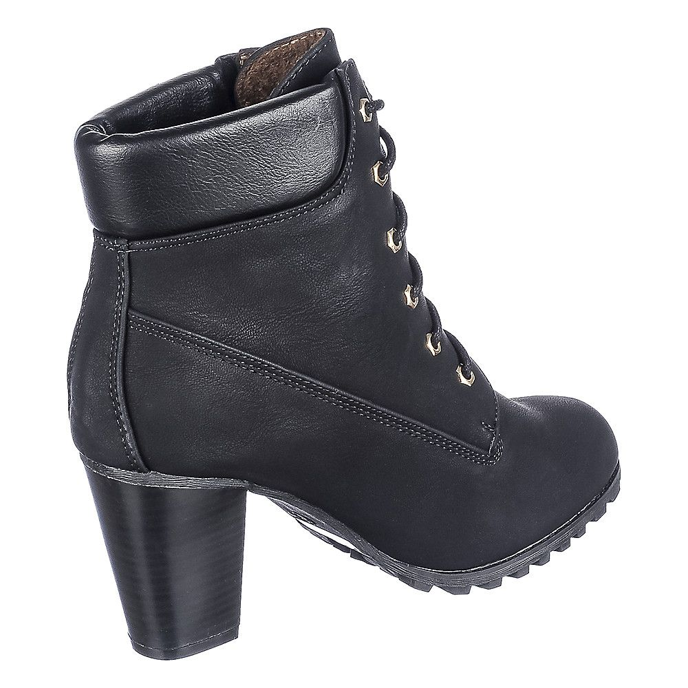 4599a6612c968 Women's Low Heel Ankle Boot Cici-10 Black