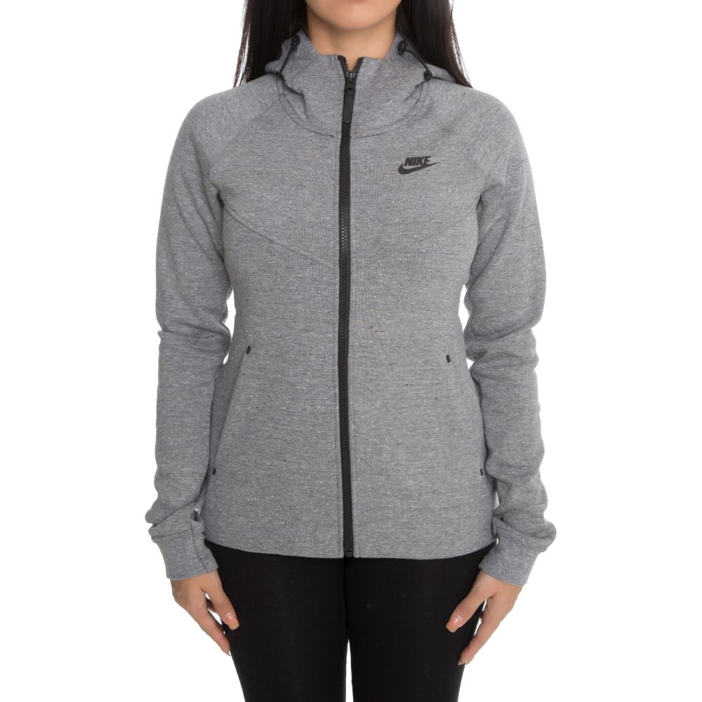 Nike Sportswear Tech Fleece Women s Full-Zip Hoodie Grey Black 743d4667e