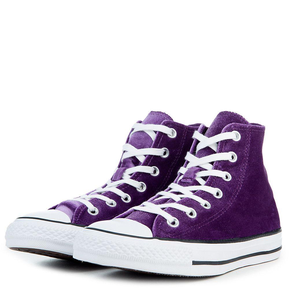 eeec9e851a38 Women s Chuck Taylor All Star Velvet Hi Sneaker night purple white white