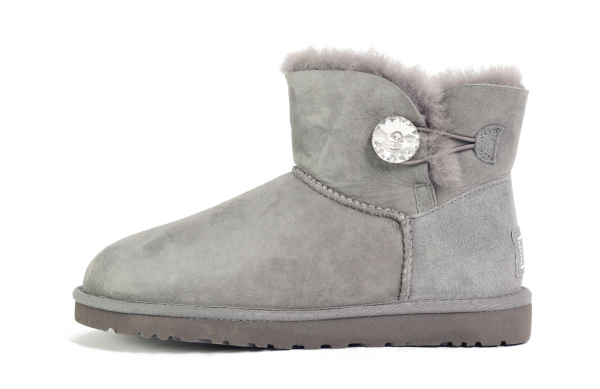 38562c9e84e UGG Australia for Women: Mini Bailey Button Bling Grey Boots Grey