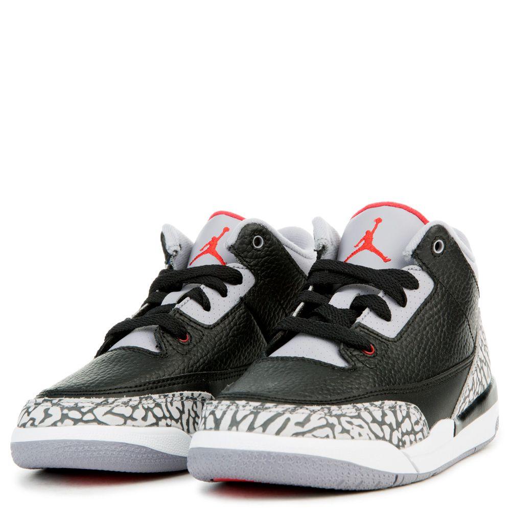 109607aea4f0 Air Jordan 3 Retro OG BLACK FIRE RED CEMENT GREY WHITE