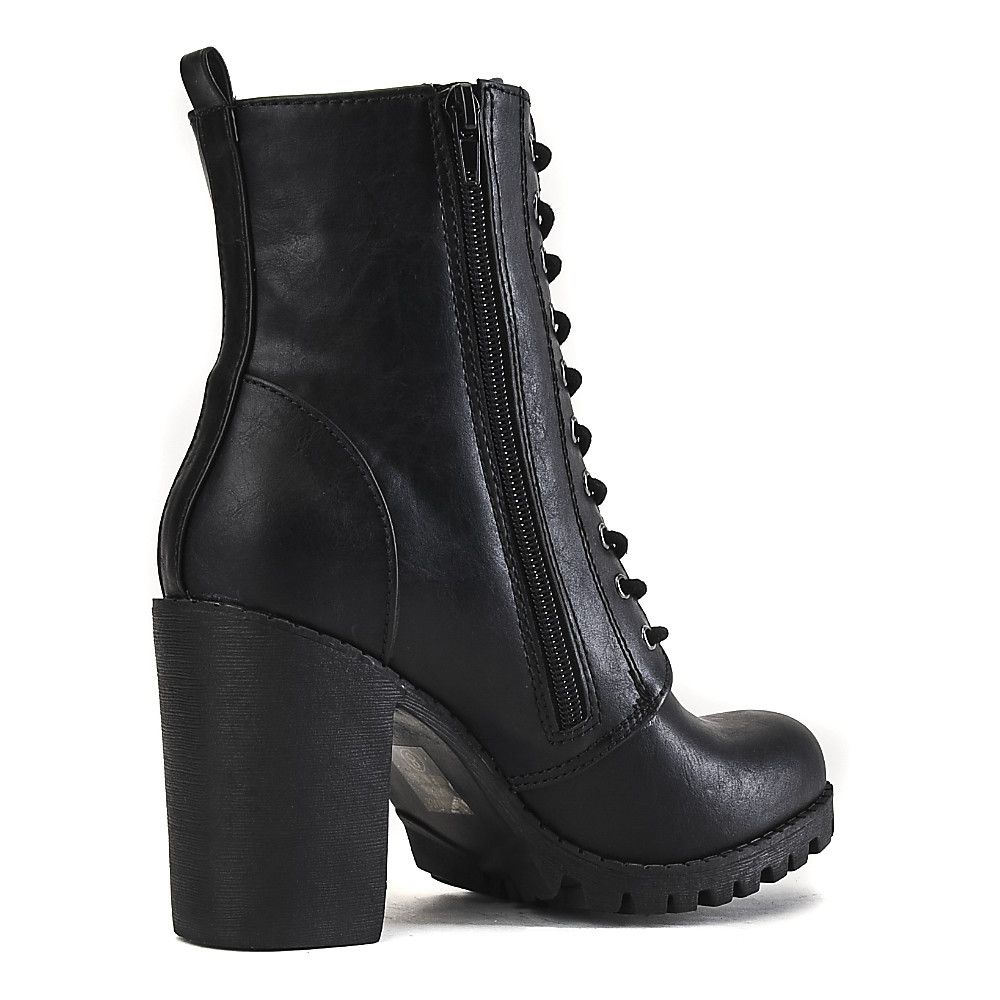 d75678ecdca Women's Low-Heel Lace-Up Boot Malia-S Black