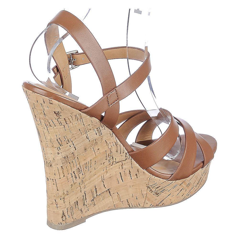 Womens Serum S Wedge High Heel Sandal Tan