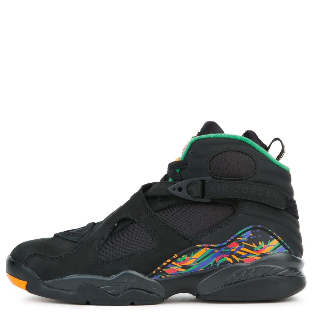 c5d48f305735 JORDAN 8 RETRO BLACK LIGHT CONCORD-ALOE VERDE