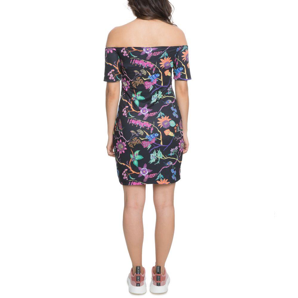 c90498fe3f7d The Poisonous Garden Reversible No Shoulder Dress in Black Black