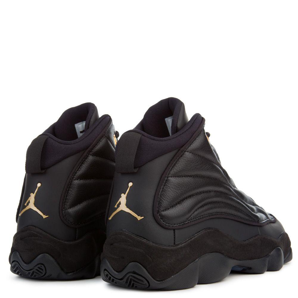 b0d29d4b69f8 Jordan Pro Strong BLACK METALLIC GOLD