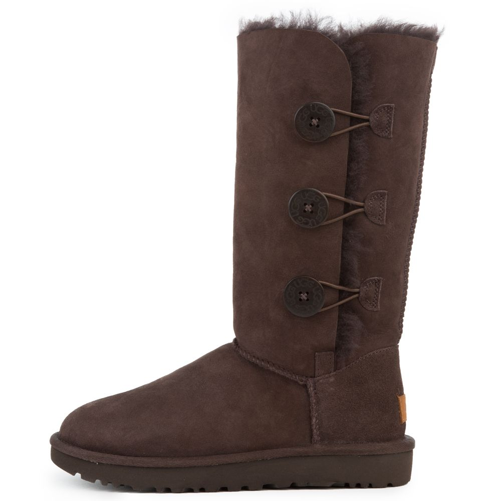 afabda8a21e Women's Bailey Button Triplet II Chocolate Boots CHOCOLATE