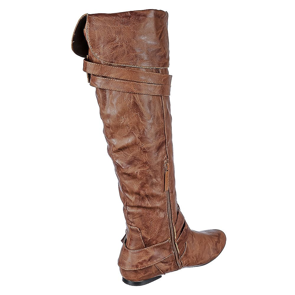 25c3a4fc24ff85 Women s Knee-High Pocket Boot Vickie-16 Hi Tan