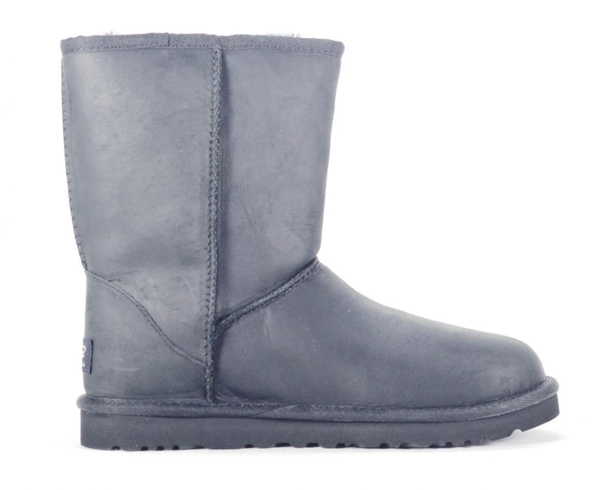 f7d12056d66 UGG Australia for Women: Classic Short Leather Black Boot BLACK