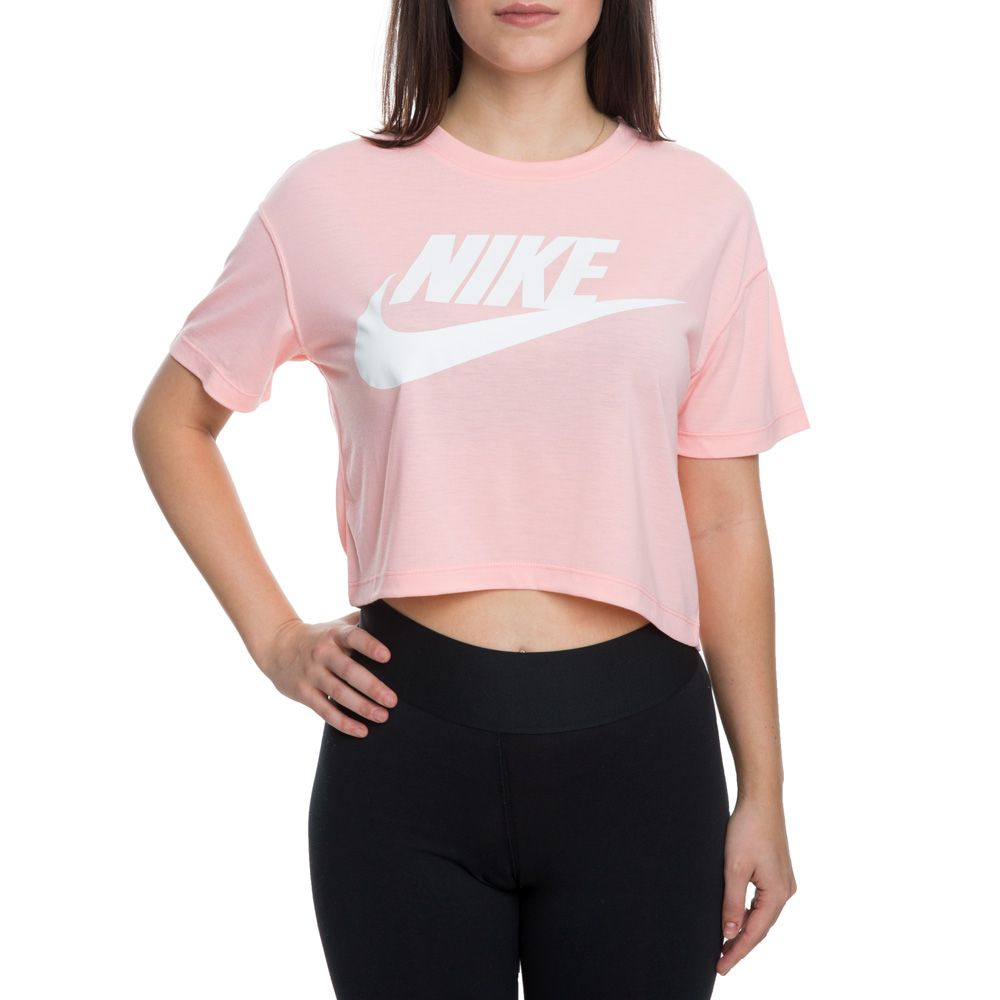 310d2415d83abc women s nike sportswear essential crop top bleached coral sail