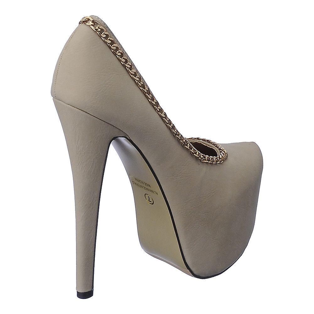 98d445a3c8 Women's Nelly-14 High Heel Pump Nude