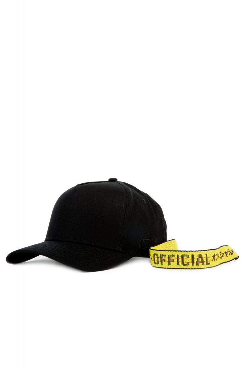 6c445f55dc4 The Ace Flight Extra Long strap Dad hat in Black and Yellow Black ...