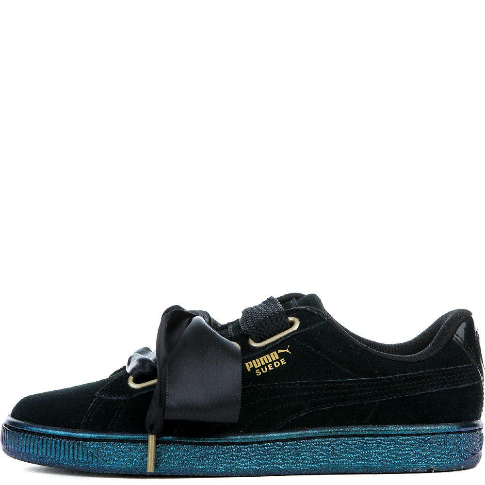 4c9beb2f7c8b Women's Suede Heart Satin Sneaker puma black/puma black - Shoes - Women's -  Sale
