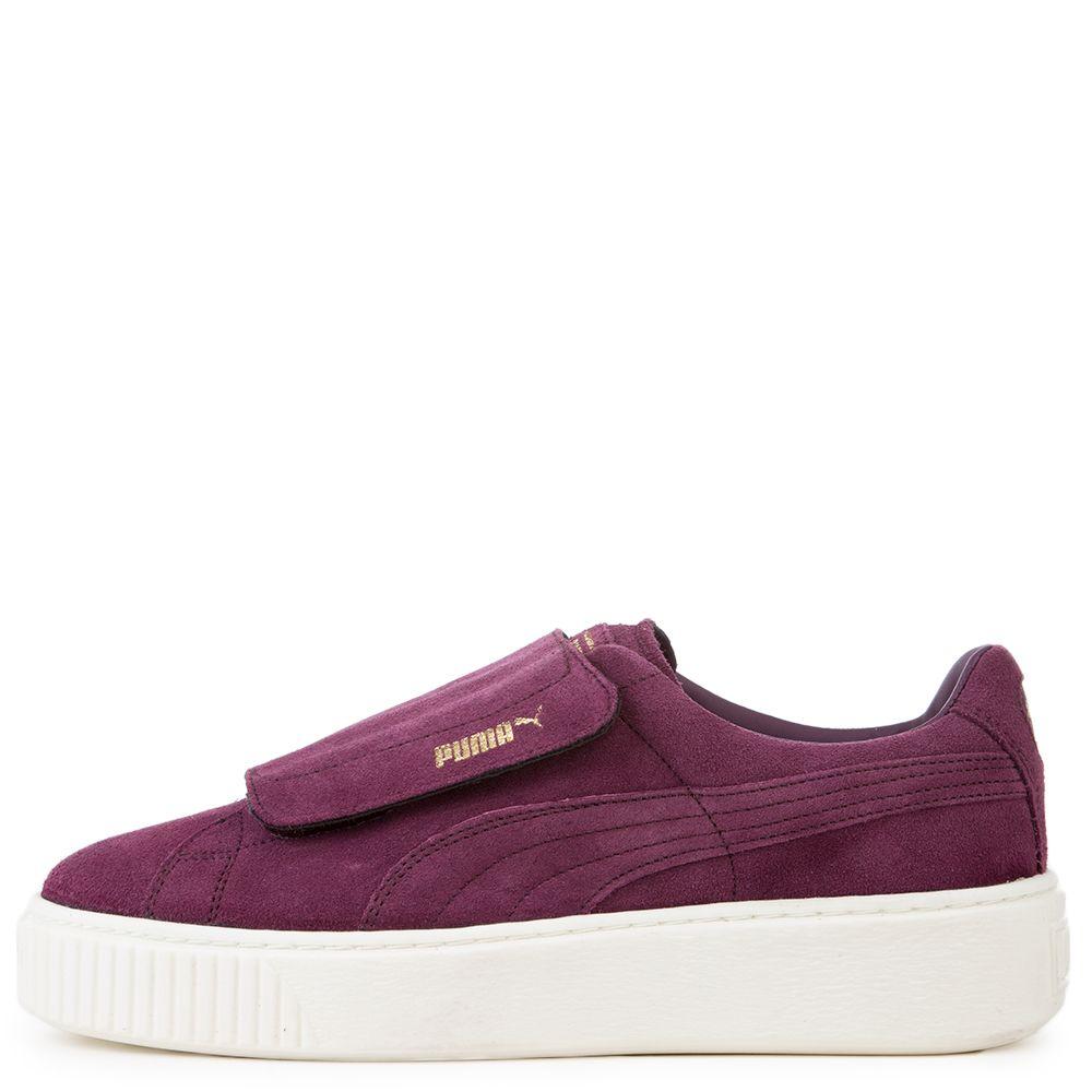 35d705e92df9 Women s Suede Platform Strap Sneaker DARK PURPLE DARK PURPLE MARSHMALLOW