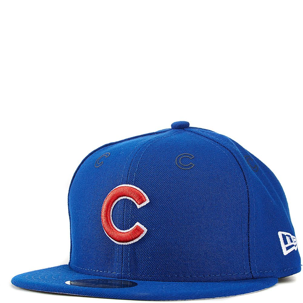 44314eb62fa Chicago Cubs Fitted Hat Royal Blue New Era 59FIFTY With Rubber Team Logo  Decals