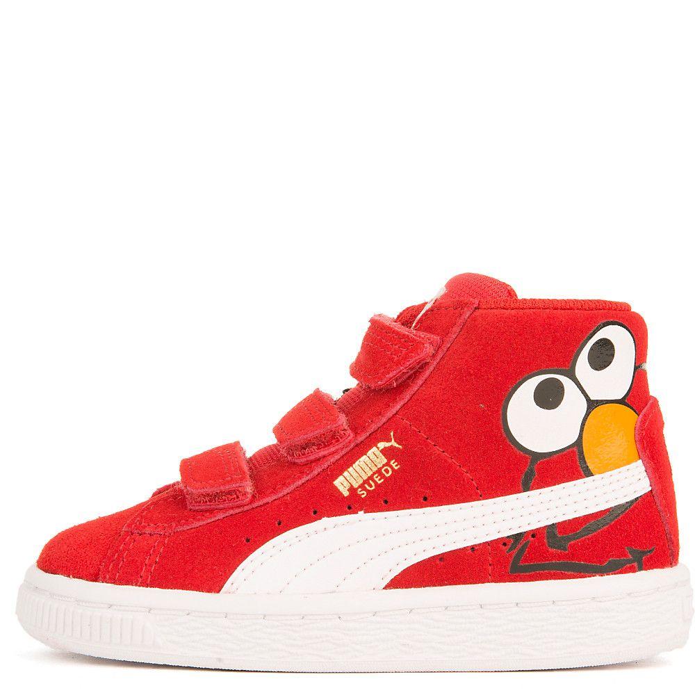 100846605fae Toddler Suede Mid Sesame Elmo Casual Velcro Sneaker