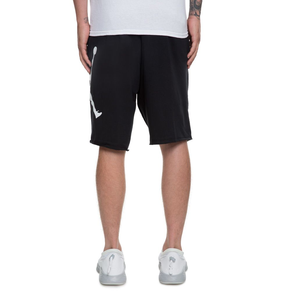 b561a8bf184422 MEN S JORDAN JUMPMAN AIR FLEECE SHORT BLACK WHITE
