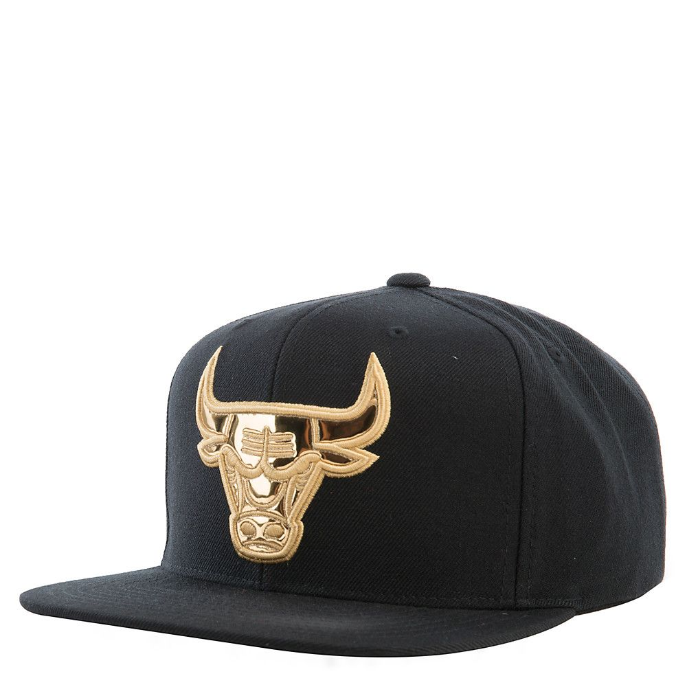 Chicago Bulls Snapback Cap Gold Rush Collection BLACK bec5abd640f