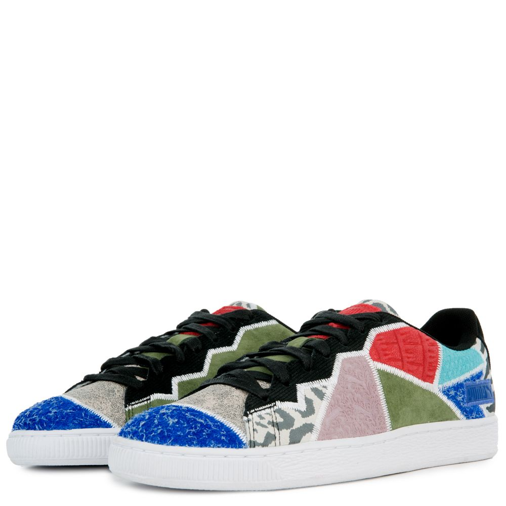 5307014453 RECYCLED SUEDE SNEAKERS Surf The Web/Olivine/Puma Black