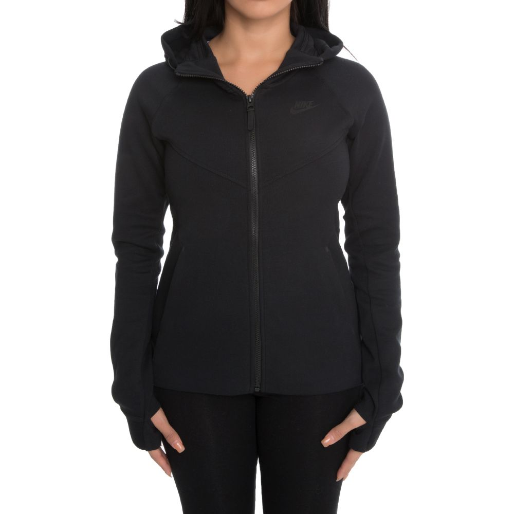 Nike Sportswear Tech Fleece Women s Full-Zip Hoodie Black 9ad8b87af2