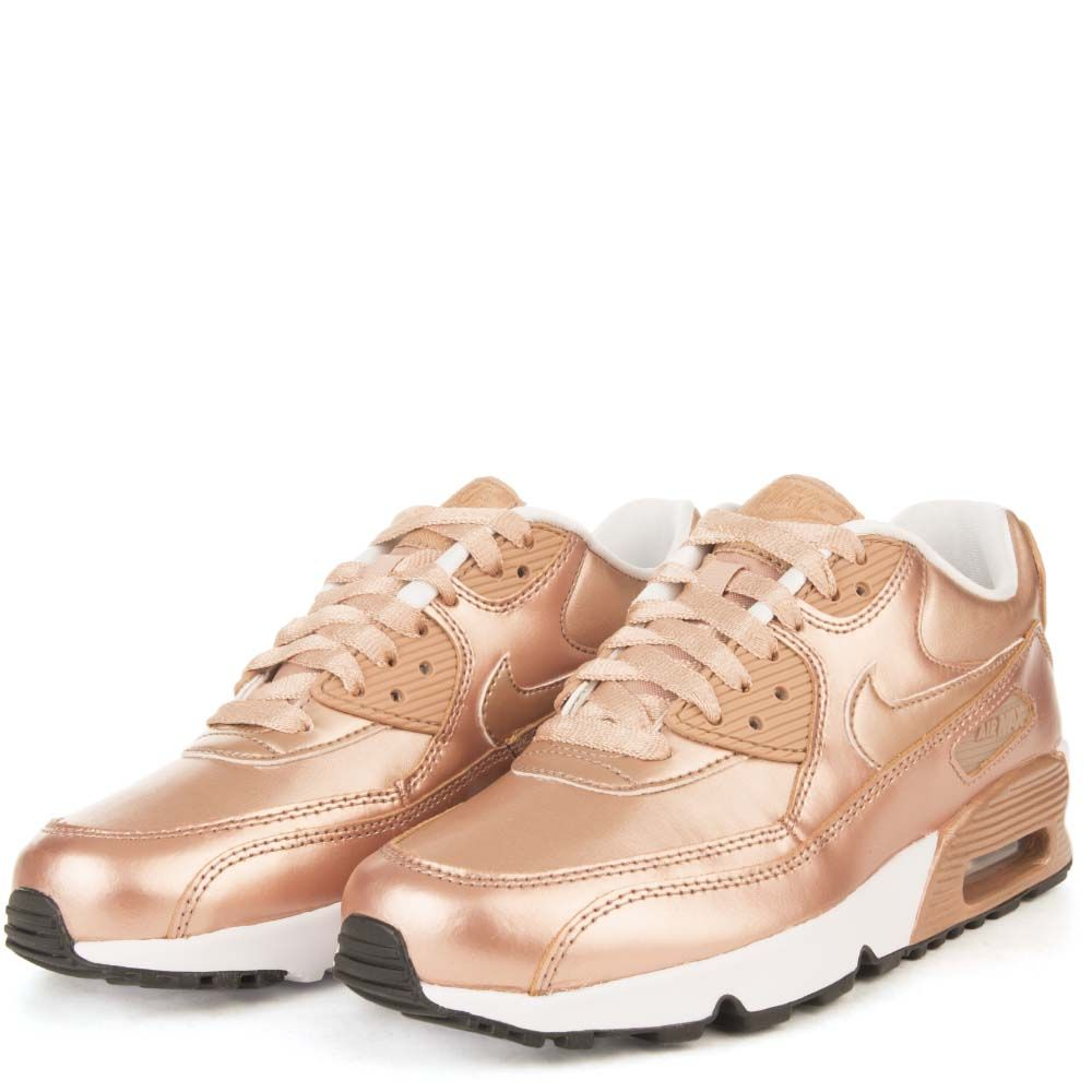 brand new 37413 a84d0 AIR MAX 90 SE LTR (GS) Rose Gold White Black