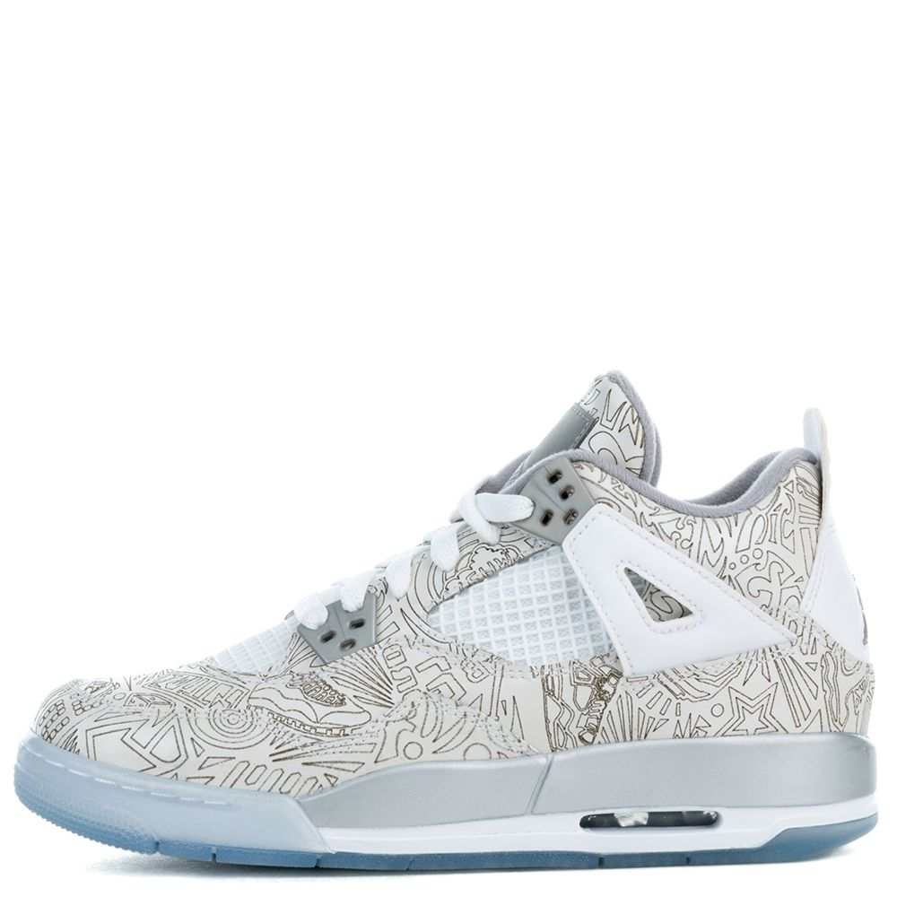air jordan 4 retro laser bg white metallic silver chrome c13aceb65fb