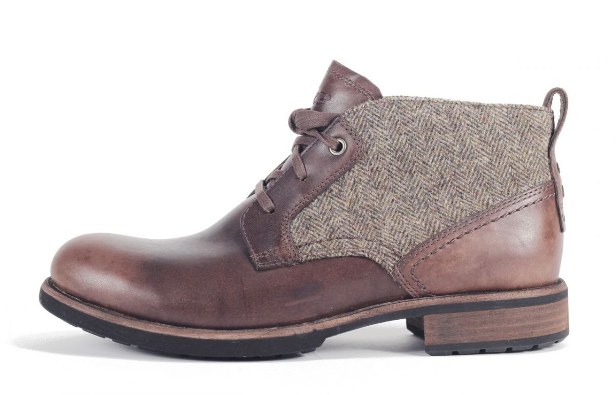 08b64bb01ce UGG Australia for Men: Brompton Tweed Grizzly Boot DARK BROWN