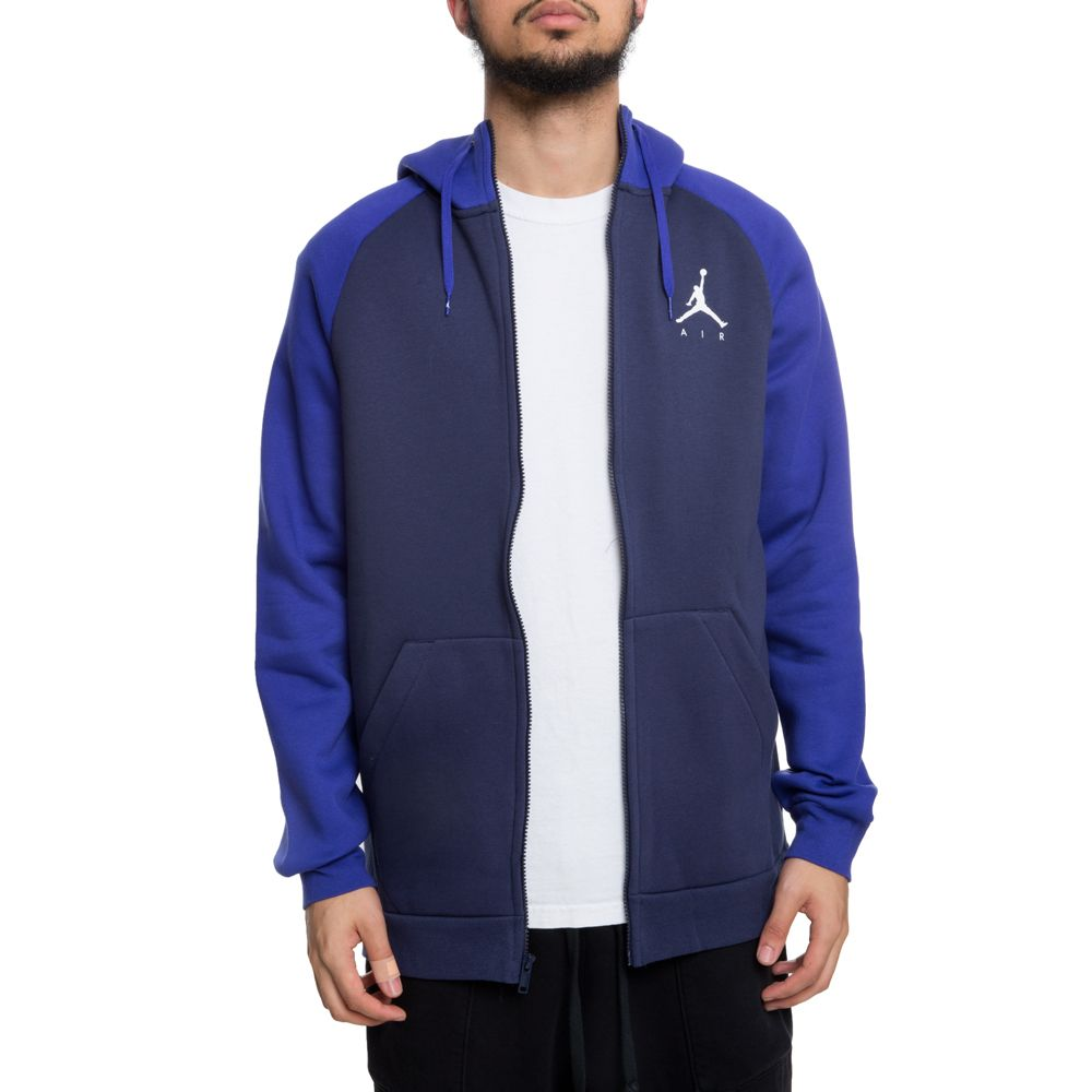 f0fa21090b127b jumpman fleece full-zip hoodie blackened blue germain blue white