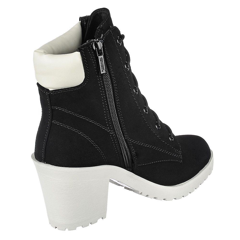 8e6d70b6db8 Women s Low Heel Ankle Boot Keelo-H Black White