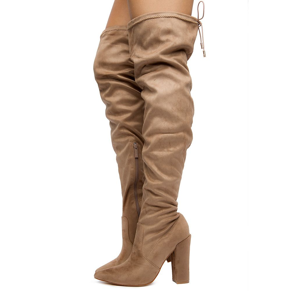 17721efc8bf Women's Annika-15 Over The Knee Boots Taupe