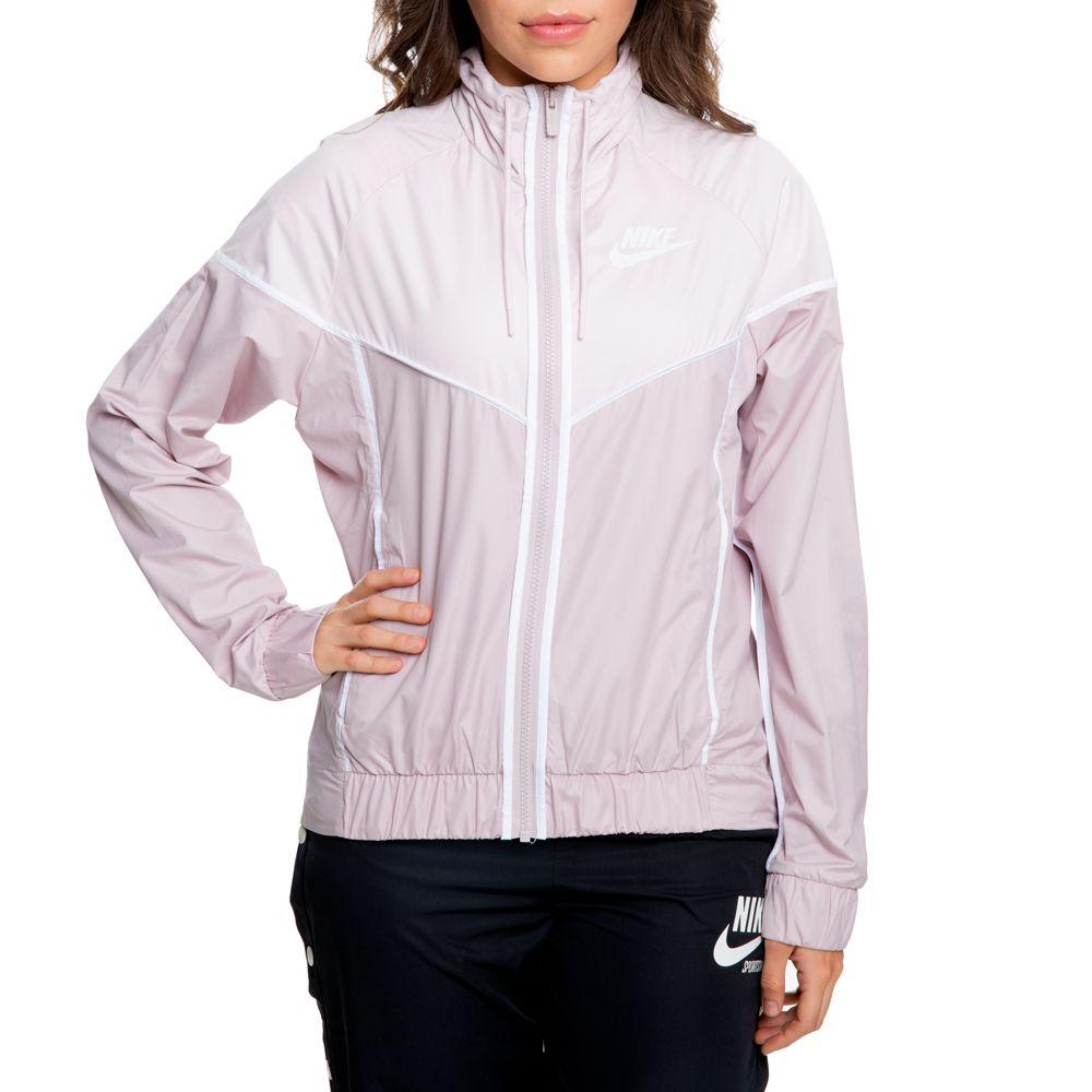 c449488e2 women's nike windrunner jacket particle rose/barely rose/white