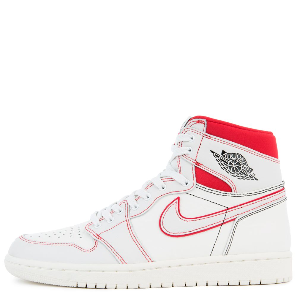 online store dd92d 1fdab AIR JORDAN 1 RETRO HIGH OG SAIL BLACK-PHANTOM-UNIVERSITY RED