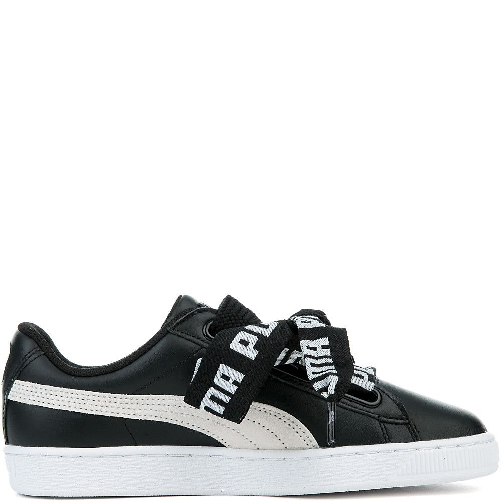 Women s Basket Heart De Sneakers PUMA BLACK PUMA WHITE ba273438d