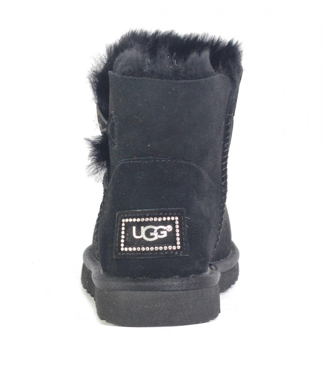 07b38a13150 UGG Australia for Women: Mini Bailey Button Bling Black Boots BLACK