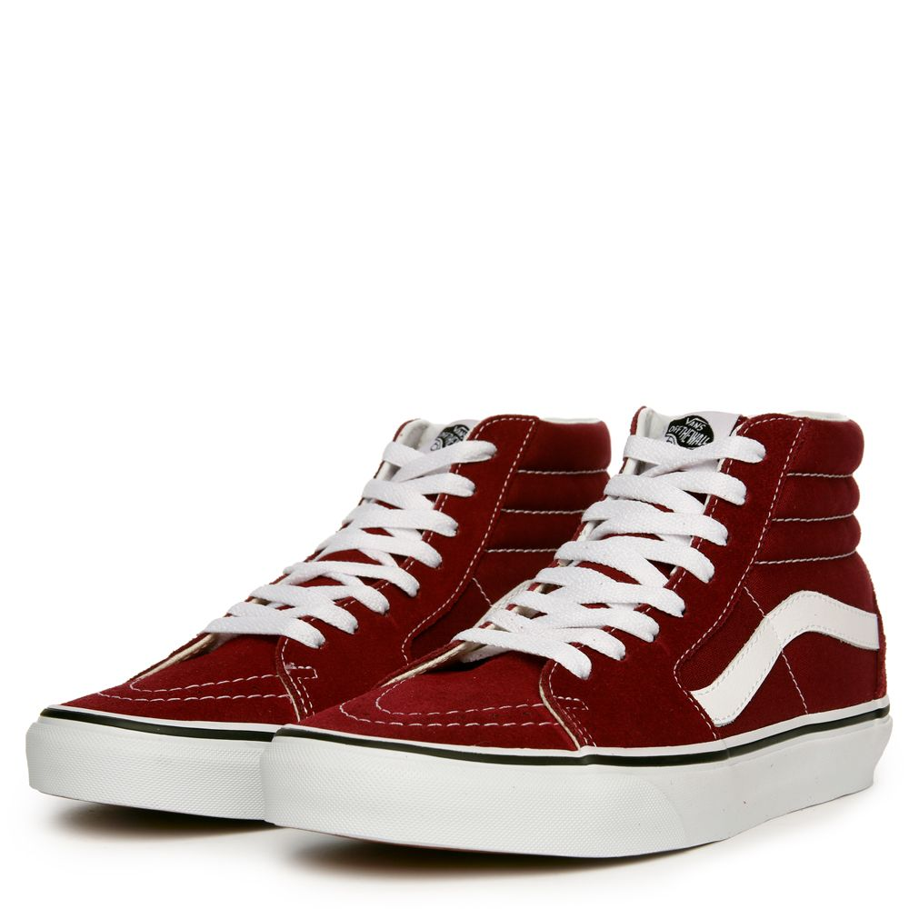 0dd11d2851 WOMEN S VANS SK8-HI BURGUNDY TRUE WHITE