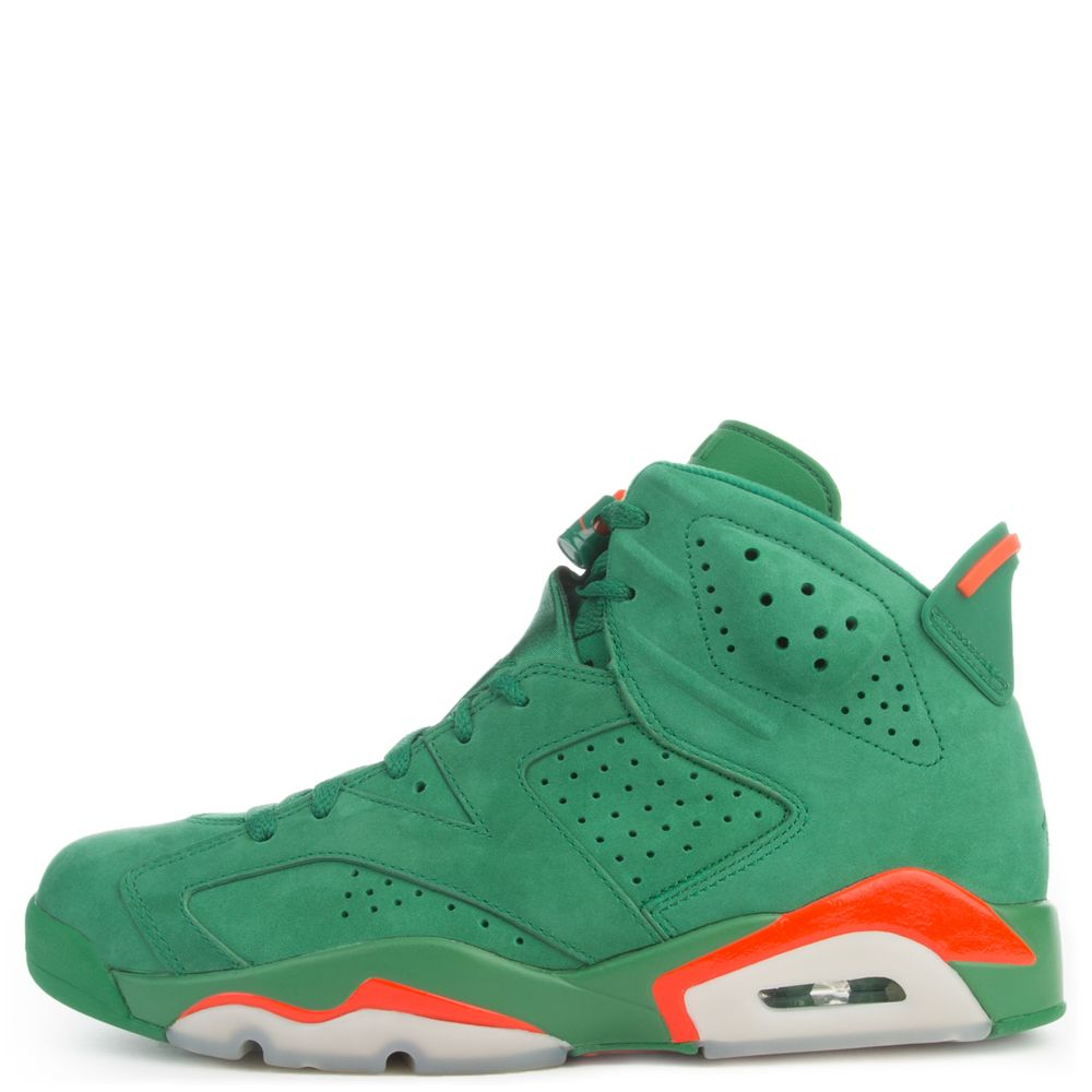 690eef7f3f088a Air Jordan 6 Retro Energy PINE GREEN ORANGE BLAZE